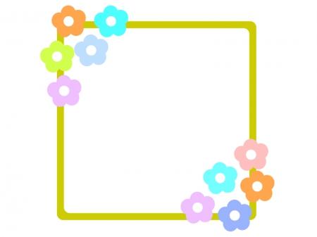 花の飾り枠・フレーム素材01