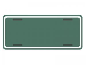 ナンバープレート風飾り枠・フレーム素材