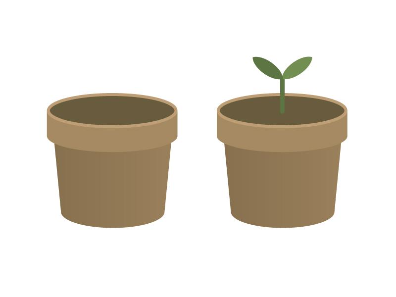 植木鉢イラスト素材