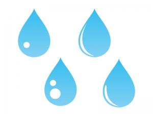 水滴イラスト素材 イラスト無料かわいいテンプレート