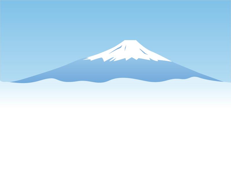 雲海と富士山のイラスト素材