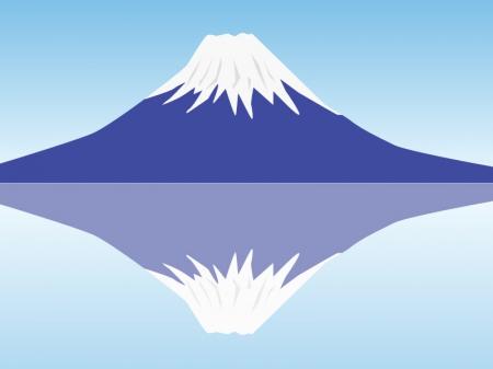 富士山・逆さ富士イラスト素材