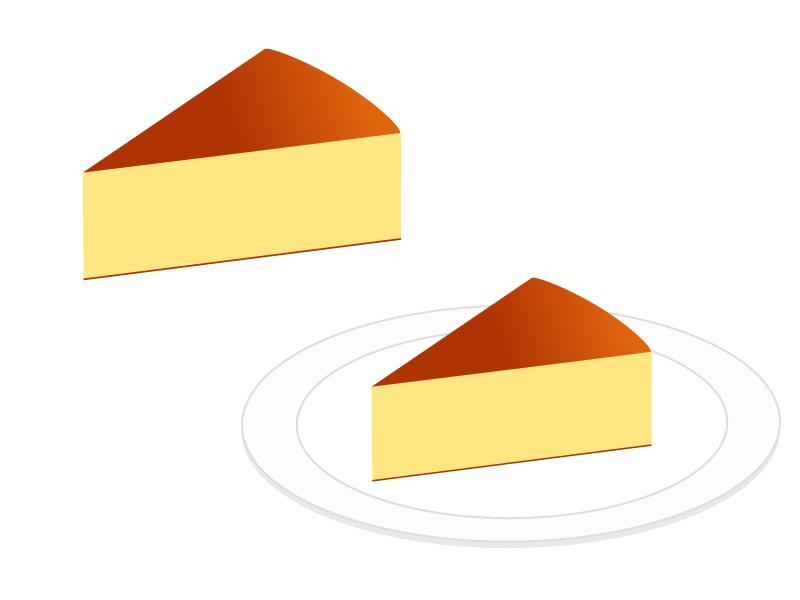 チーズケーキのイラスト素材
