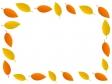 紅葉の葉っぱフレーム・飾り枠素材