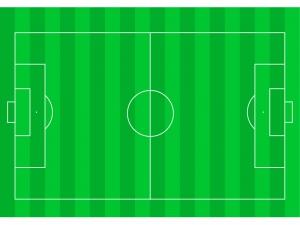 サッカーグラウンドのイラスト素材