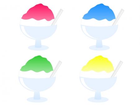かき氷・氷菓イラスト素材