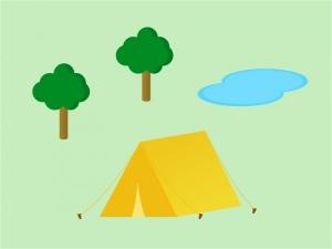 キャンプ・テントイラスト素材