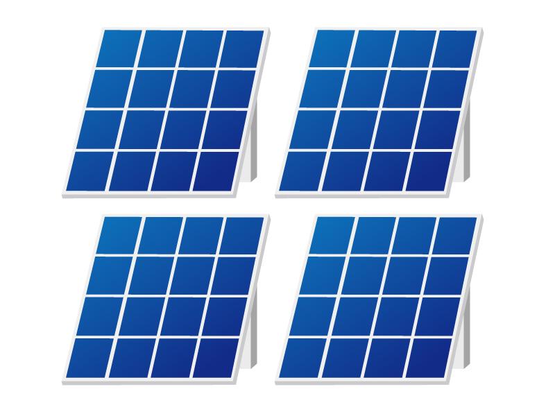 ソーラーパネルのイラスト素材