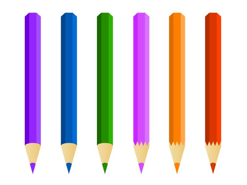色鉛筆イラスト素材