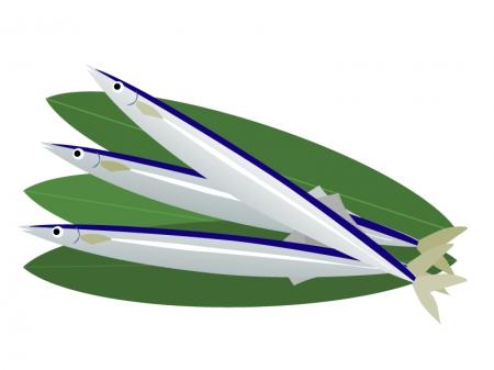 サンマ(秋刀魚)のイラスト素材