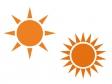 太陽・晴れイラスト素材