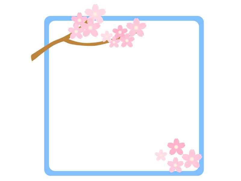 桜のフレーム・飾り枠素材01