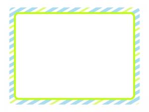 ストライプ(ブルー)のフレーム・枠素材