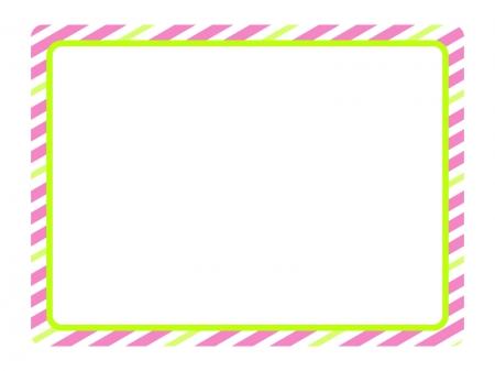 ストライプ(ピンク)のフレーム・枠素材