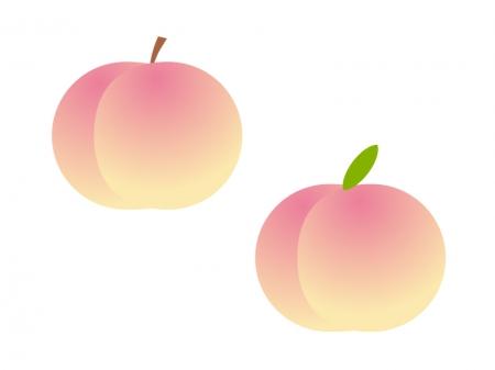 桃のイラスト素材 桃のイラスト素材   イラスト無料・かわいいテンプレート 桃のイラスト素材  