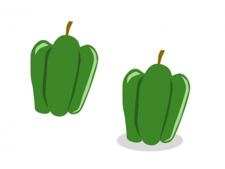 ピーマン・野菜イラスト素材