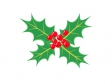 クリスマス・柊(ひいらぎ)のイラスト素材01