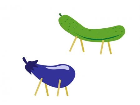 お盆の伝統行事、ナスとキュウリについて紹介!のサムネイル画像