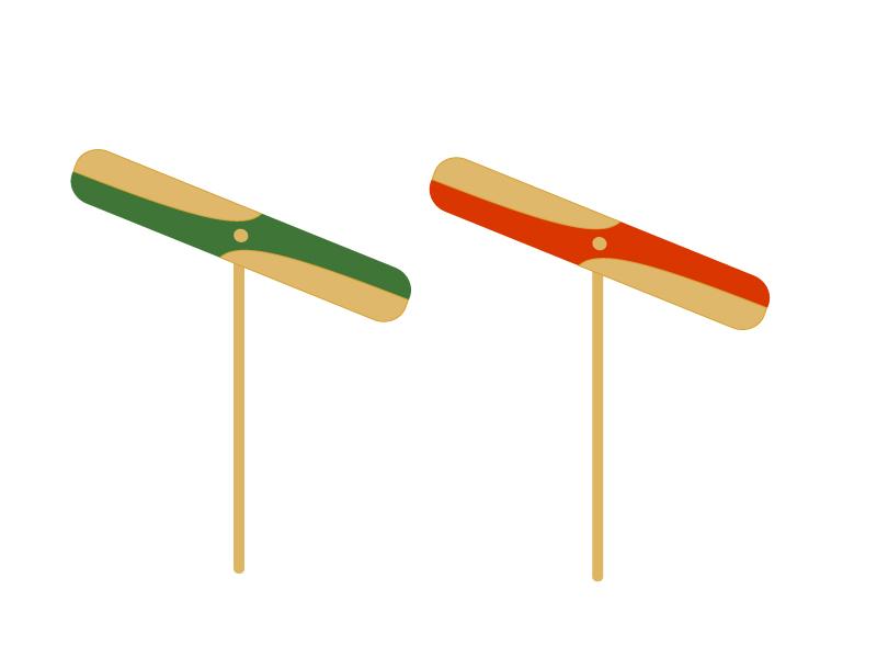 竹とんぼのイラスト素材