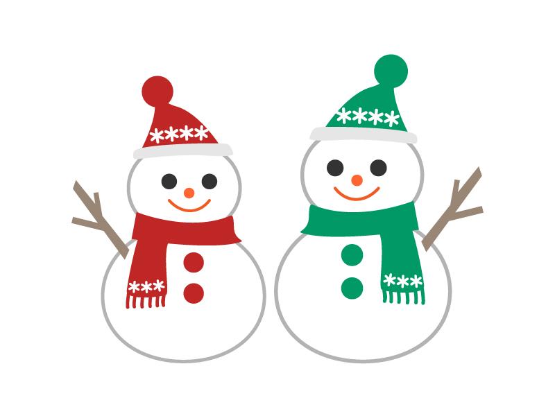 雪だるまのイラスト素材