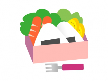 ピンクのお弁当のイラスト素材