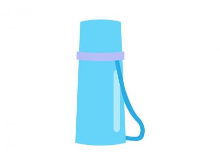 ブルーの水筒のイラスト素材