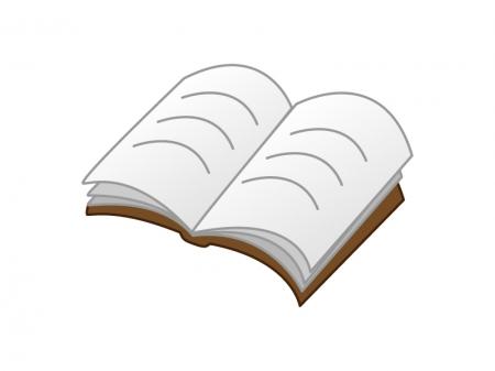 開いた本のイラスト素材
