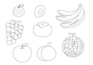 ぬりえ素材・果物・フルーツ