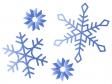 雪の結晶のイラスト素材