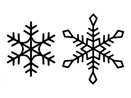 雪の結晶シルエット素材