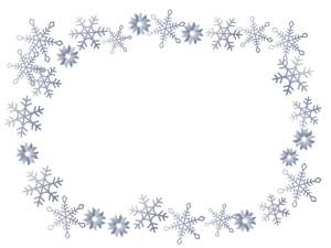 雪の結晶(シルバー)のフレーム・枠素材