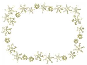 雪の結晶(ゴールド)のフレーム・枠素材