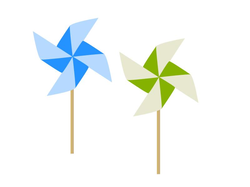 風車・折り紙のイラスト素材