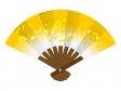 扇子(金色)のイラスト素材
