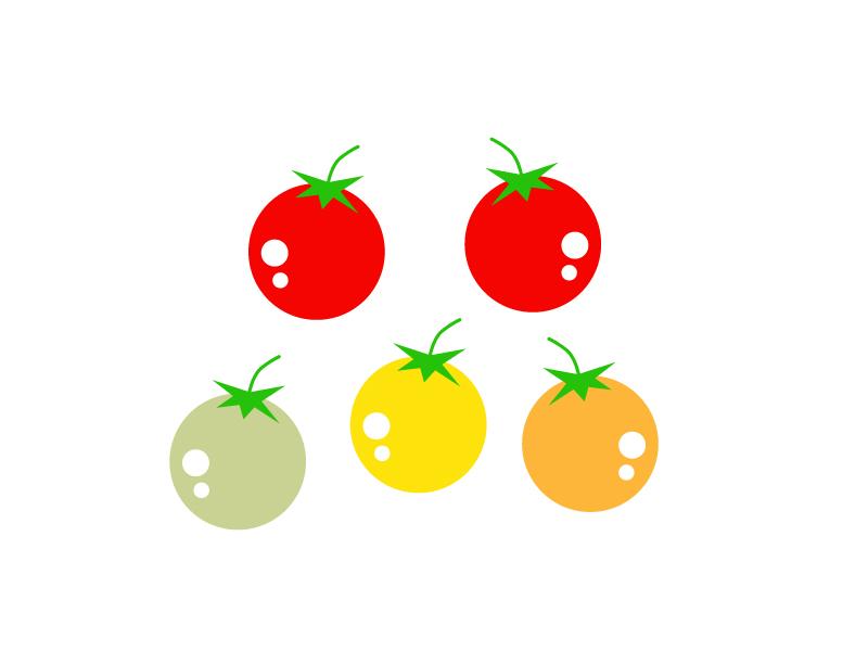 ミニトマトのイラスト素材