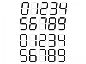 デジタル数字のイラスト素材