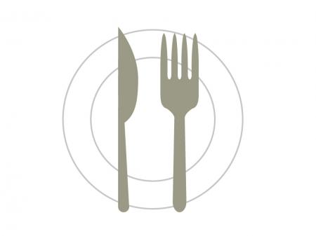 レストランマークのイラスト素材