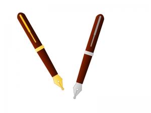 万年筆のイラスト素材