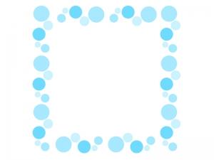 水玉の飾り枠・フレーム素材