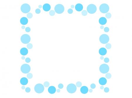 水玉の飾り枠・フレーム素材 ...