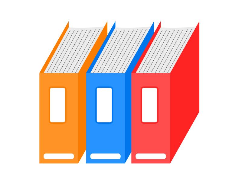ファイル・資料のイラスト素材