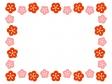 梅の花のフレーム・枠素材