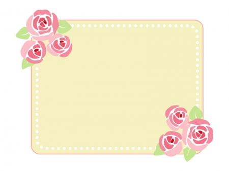 バラのフレーム・枠素材