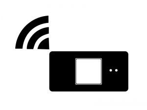 Wi-Fiルータ・シルエット素材