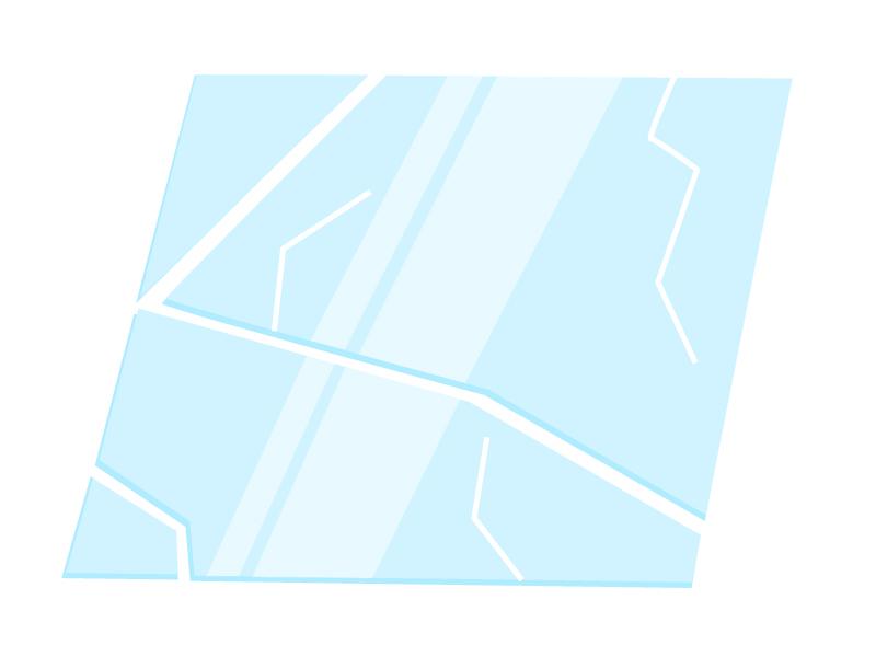 破損・ひび割れたガラスのイラスト素材