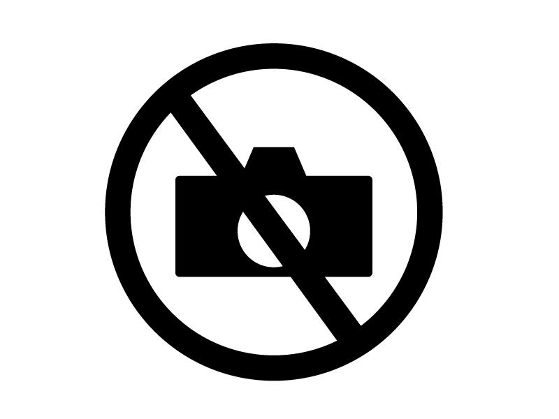 撮影禁止マークのシルエット素材