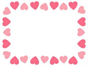 ハート(ピンク)のフレーム・枠素材