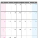 2015年(平成27年)カレンダー6月・A4印刷用