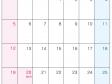 2015年(平成27年)カレンダー7月・A4印刷用