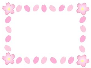 桜のフレーム・飾り枠素材02